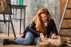 Катя Ковская с львенком - 2
